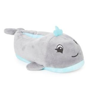 Kid's Size 13/1 Whale Plush Slippers
